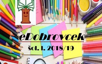 eDobrovček – 1. številka 2018/2019